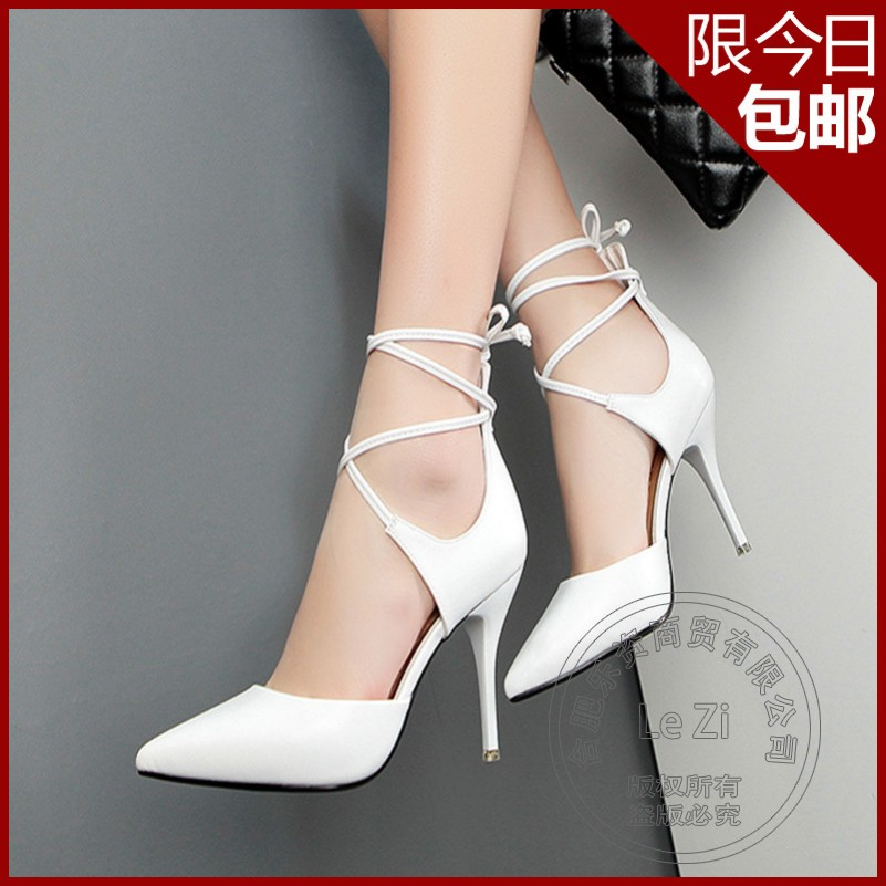 Show Rome Strappy Stiletto Heels Daily Simple Soft Leather Cusp font b Women b font Brand