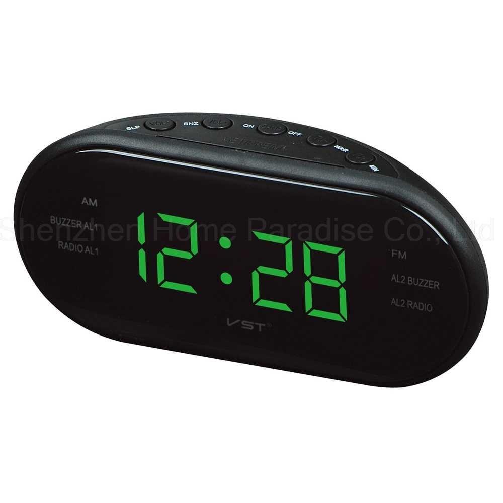 СВЕТОДИОДНЫЙ Цифровой Будильник AM FM радио электронные настольные часы Декоративная Подсветка Повтор Настольный Будильник для спальни домашний декор