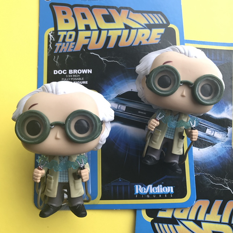 Original Funko pop Secondhand Movies: Back to The Future - Dr. Emmett Brown Vinyl Action Figure Collectible Model Loose Toy