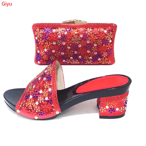 doershow  beautiful red Shoe and Bag Sets Italian Shoes and Bags Set for party African Matching Shoes and Bags!KI1-17doershow  beautiful red Shoe and Bag Sets Italian Shoes and Bags Set for party African Matching Shoes and Bags!KI1-17