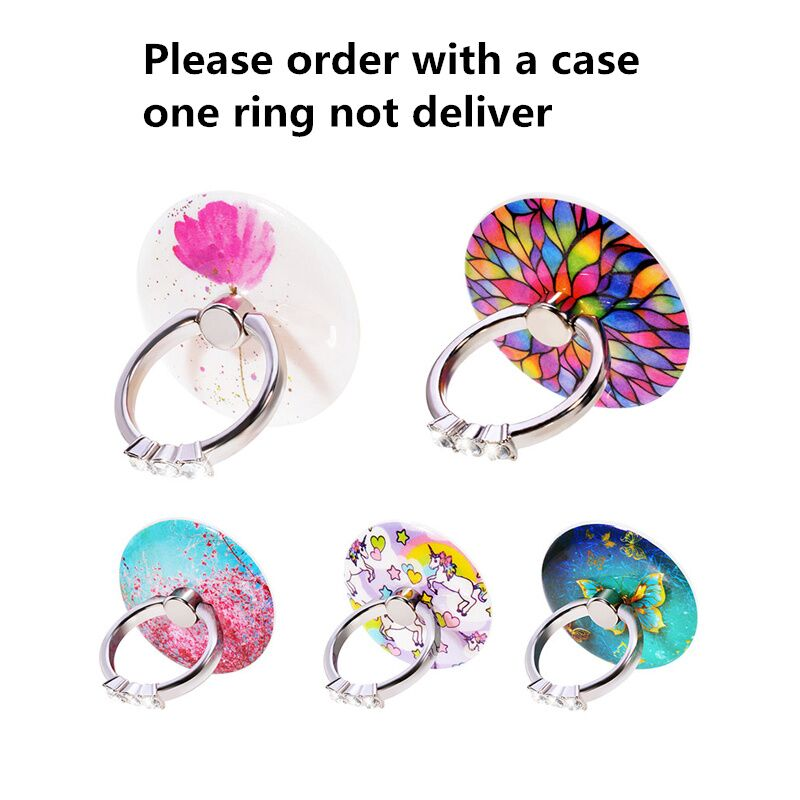 Mobile Phone Ring Holder Stand Hold Luxury Crystal Floral Don't sent without case order before contact the seller