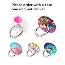 Mobile Phone Ring Holder Stand Hold Luxury Crystal Floral Don't sent without case order before contact the seller(China)