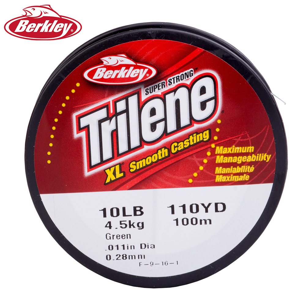 Berkley Trilene XL Nylon Fishing Lines 100M Super Force Green and ...