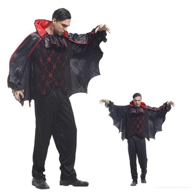 Travestimenti Halloween Uomo.Us 28 37 14 Di Sconto Vampiro Demone Uomo Costume Di Halloween Batman Diavolo Cosplay Festival Di Vacanza Parade Panno Di Travestimento Di Carnevale