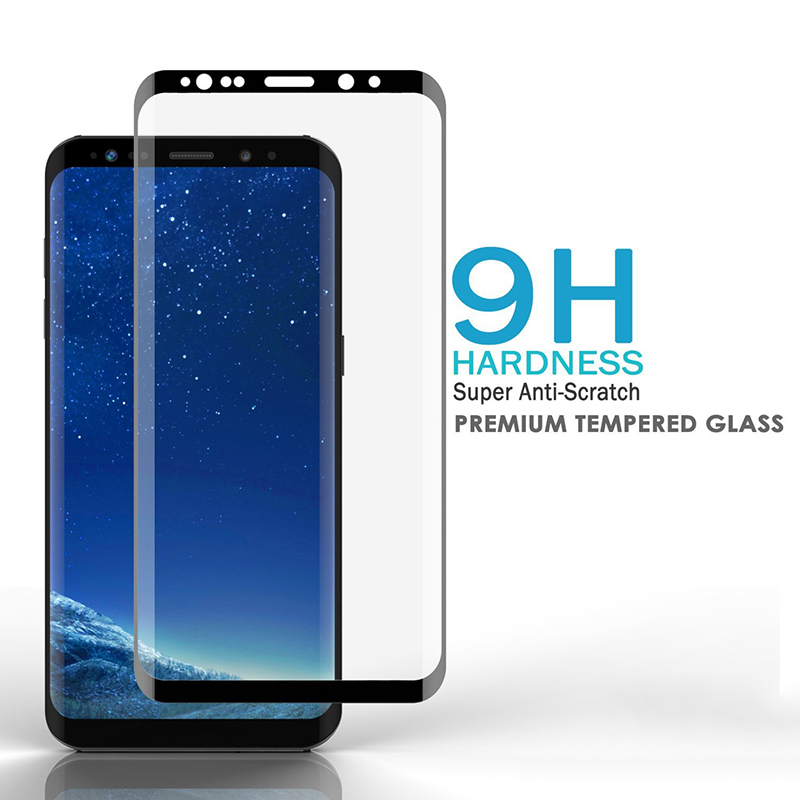 Suntaiho 3D Curved Full Cover Tempered Glass for Samsung Galaxy A6 2018 Plus Screen Protector for Galaxy A8 S7edge S8 S9 Plus A5