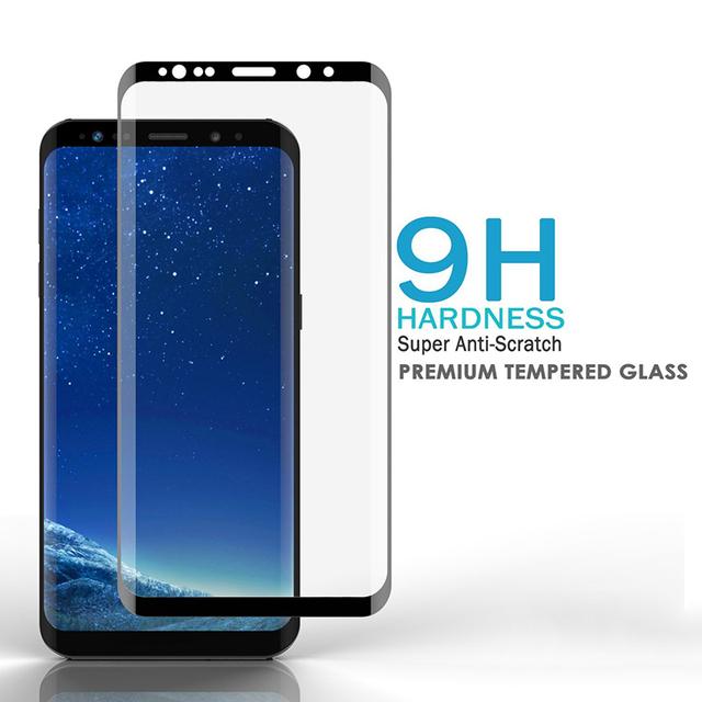 3D celoplošná zakrivená 9H fólia z tvrdeného skla pre Samsung Galaxy A8 2018 / A8 Plus 2018