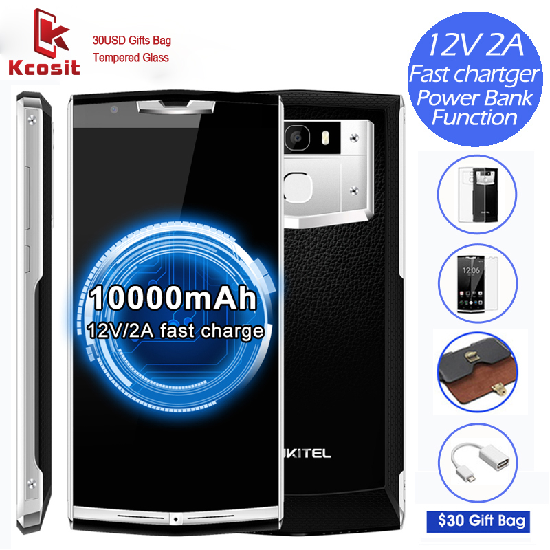 OUKITEL K10000 Pro 10000mAh Battery Rugged Smartphone Android 7 0 MTK6750T Octa Core 3GB 32GB 13