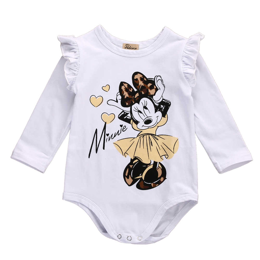 726b145f4d7 Detail Feedback Questions about One Piece Cute Lovely Newborn Baby Girl  Cotton Minnie Mouse Long Sleeve Romper Jumpsuit Outfits Clothes on  Aliexpress.com ...
