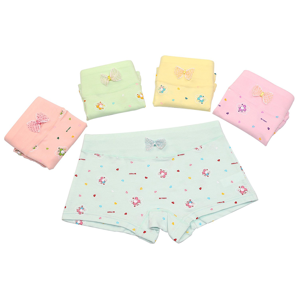 7775dc584555 5 Pack Girls Boxer Brief Underwear Toddler Little Hipster Boyshort Kids  Briefs Cotton Panties Set for Girls Kids Size 2 12 Years-in Panties from  Mother ...