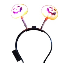 Halloween LED Flashing Light Pumpkin Headband
