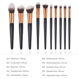 Image 5 - Professional 10 Type Soft Makeup Brushes Kabuki Brush Blending Powder Foundation Blush Make Up Brush Eyeshadow Cosmetics Tool