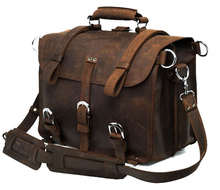 100% Crazy Horse Leather Men Backpacks Leather Big Size Travel Bags # 7072R
