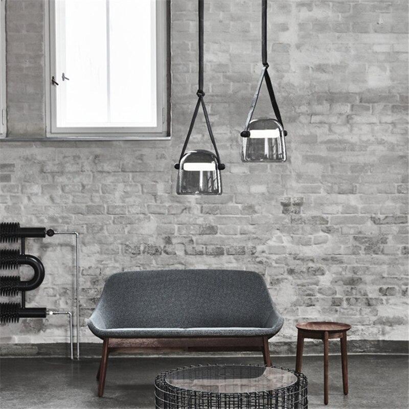 Image 3 - Post modern Glass Pendant Lights Mona Led Belt Hanging Lamp Living Room Kitchen Light Fixtures Home Decor Suspension Luminaire-in Pendant Lights from Lights & Lighting