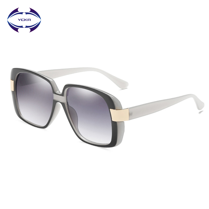VCKA Small Square Sunglasses Women Luxury Brand Designer Frame Transparent Gradient Sun Glasses Oculos De Sol Feminino UV400