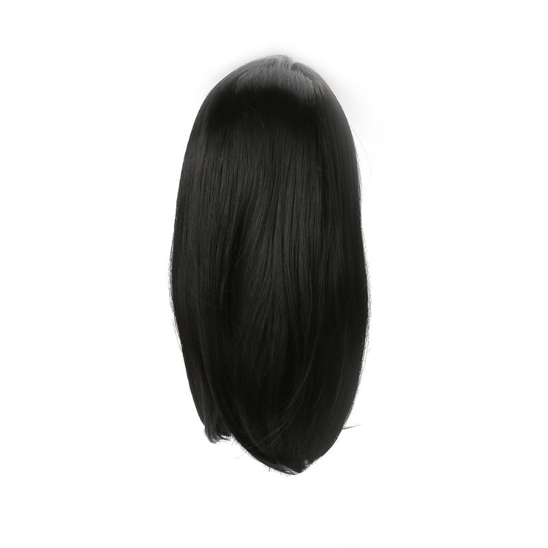 Lady Straight Bang Short Bobo Blond Curly High Temperature Wire Periwig Short Straight Front Neat Wedding Synthetic Hair