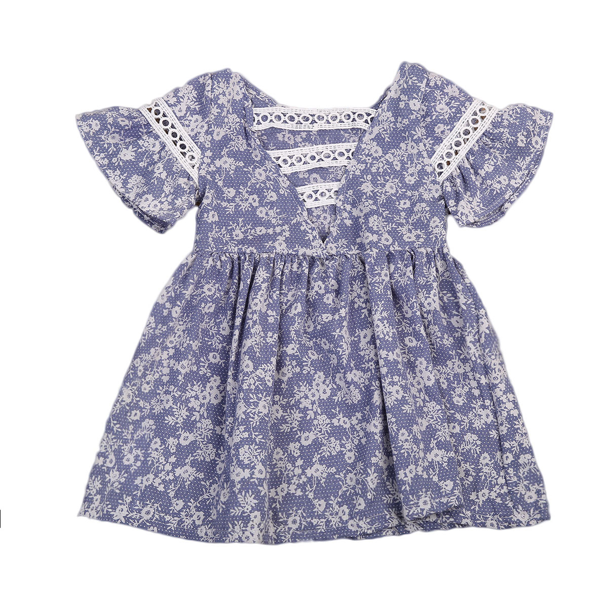 Newest Toddler Infant Child Kids Baby Girls Summer Beach Floral Lace Dress Princess Party Pageant Dresses fashion toddler girls princess dress elegant floral bow vestidos for baby girl winter infant kids cotton lace dresses