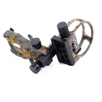 1pc 0.019 Optical Fiber 5 pins Compound Bow Sight Micro Adjustable Bow Sight with Light Outdoor Hunting Shooting Athletic Bow Si