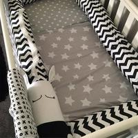 Baby Bed Bumpers Black And White Zebra Children's Crib Bed Guardrail Bumper Protector Pillow Anti Crash Bar For Newborn Sleeping