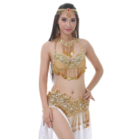 Belly Dance Costume Set Women Sexy Clothes Belly Dancing Bra And Belt Suits Indian Costumes Stage Performance Dance Wear DN1927