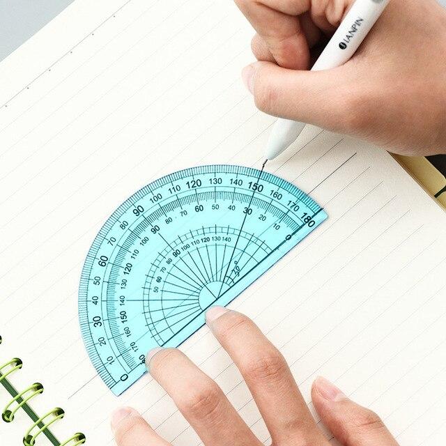 4 pz/set Nuovo Etero Righello Goniometro Studenti di Matematica Geometria Morbido Flessibile di Plastica Triangolo Righello Set di Scuola Forniture per Ufficio 4