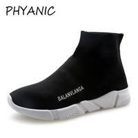 PHYANIC Sneakers For Woman Platform 2018 Wedge Heel Woman Casual Shoes High Top Knitted Woman Leisure