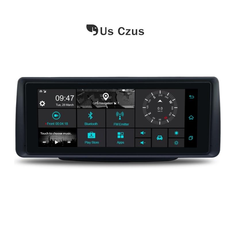 Retrovisor DVR carro traço cam Android 5.1g wifi GPS cardvr 4 Dual lens 1G RAM DDR3 16G ROM Câmera secretário