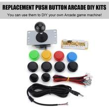 Get USB for Arcade Parts Joystick + Color Push Button Kits Game Controller DIY Replacement Kits save