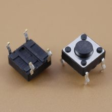 YuXi 1 PÇS/LOTE Tact Switch 6*6*4.3 alta 4.3mm Tact Switch(China)