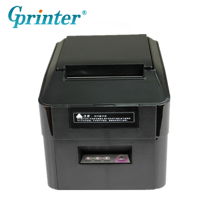 GPRINT GP-U80250I For Kitchen Thermal Receipt Printer High Speed Clear Printing With Cutter USB Serial Ethernet Optional Printer zebra zt410 300dpi thermal barcode label printer industrial printing machine zm400 updated model usb serial ethernet port