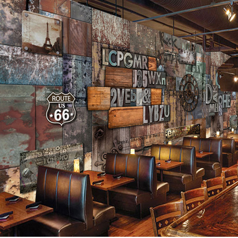 Home Bar Decor Wall Papers Vintage 3D Letter Photo ...