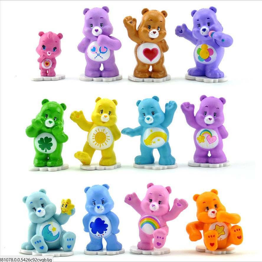 Admirable Childrens T 12 Pieces Lot Care Bear Handmade Model Birthday Birthday Cards Printable Benkemecafe Filternl