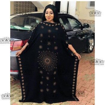 2019 חדש אפריקאי Oversize שיפון אפריקאיות רופפות עיצוב יהלומי אורך 140cm רחב 115cm (zuan #)
