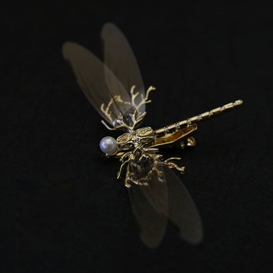 2018 Fashion Unique Jewelry Design Schmetterling Large Dragonfly Brooch Broche Femme Bijoux Vintage Insect Brooches For Women