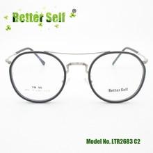 Better Self LTR2683 Metal Full Rim Glasses TR90 Pilot Eyeglasses Frame Women Men Myopia Optic Eyewear Quality Brand Spectacles