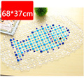Bathroom Supplies Cobblestone Anti-Slip Bath Mat with Suction Cup Waterproof PE Multi-Colored Mats