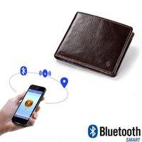 2018 New Men Genuine Leather Short Wallets Smart Bluetooth Anti theft Anti lost Wallets Multi function Waterproof Cowhide Wallet