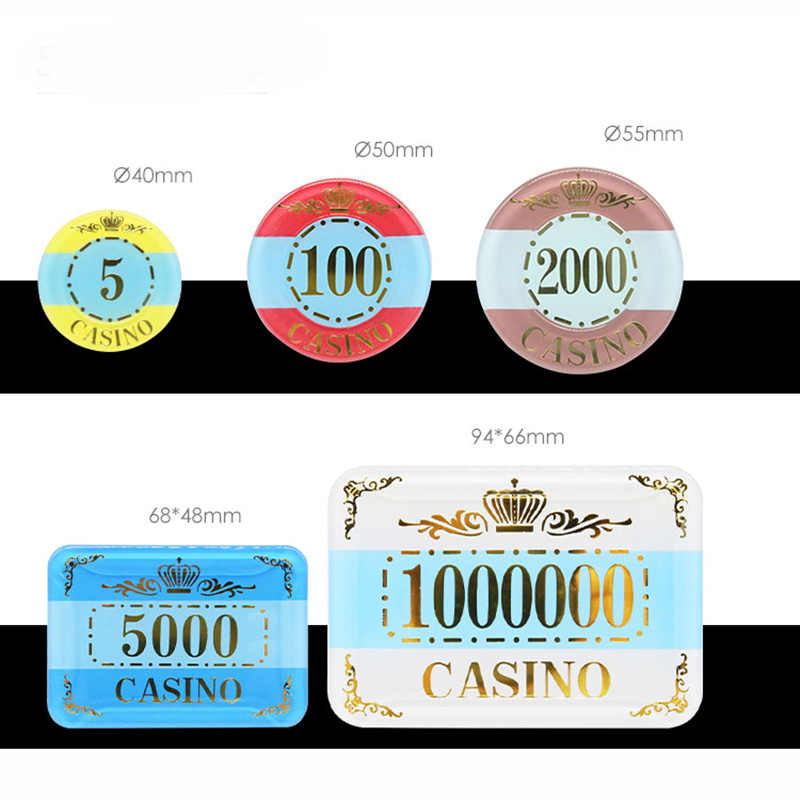 12PCS Hold/'em Chips Board Games Poker Chips Mahjong Machine Club Party Games