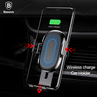 Baseus Wireless Charger Gravity Reaction Car Phone Holder 360 Air Vent Mount GPS Car Phone Stand