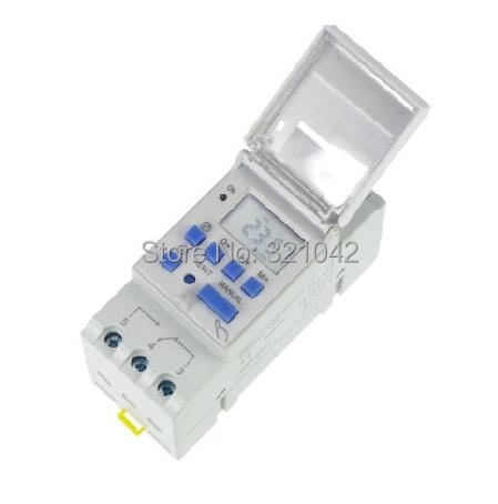THC15A Microcomputer Electronic Programmable Digital TIMER SWITCH Relay Control 12V 24v 110V 220V 16A Din Rail Mount