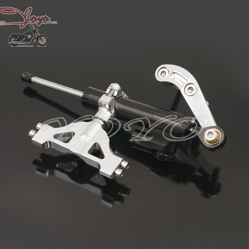 Motorcycle Steering Damper Kit With Bracket for Kawasaki ZZR1400 ZX14R ZX-14R 2006-2015 motoo free shipping for kawasaki zx6r 2005 2006 zx 6r motorcycle aluminium steering stabilizer damper mounting bracket kit