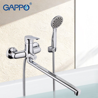 GAPPO Bathtub Faucet Bathroom Shower Mixers Long Spout Faucet Water Tap Mixer With Handheld Shower Head Wall Mounted Bath Faucet