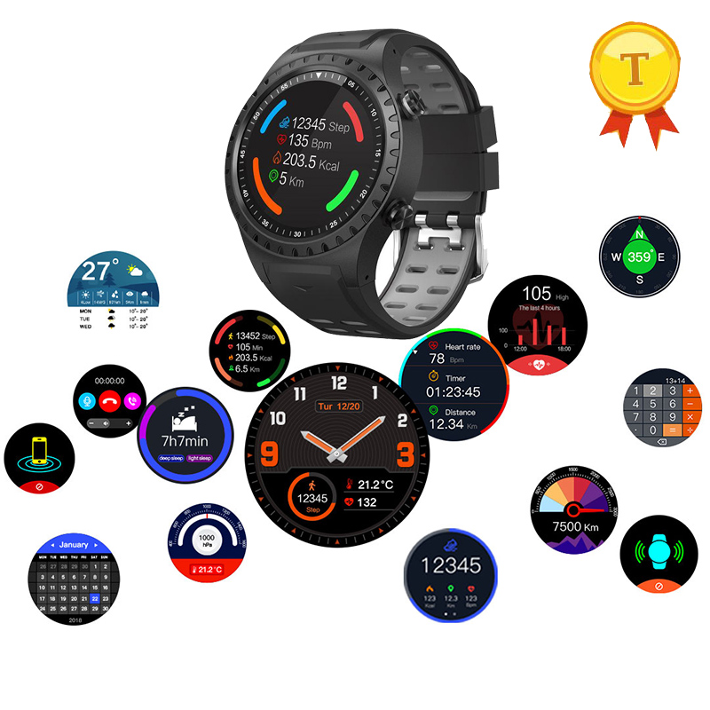 цена на 2018 New Build-in GPS Compass Barometer Sport Bluetooth 4.0 color Smart Watch Support Sim Card heart rate For IOS Android Phones