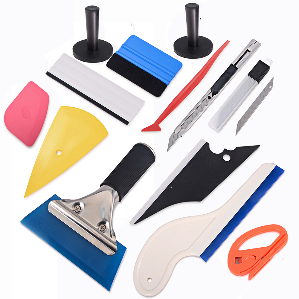 7PCS Car Vinyl Film Wrapping Tools Magnet 3M Squeegee Cutter Application Tools