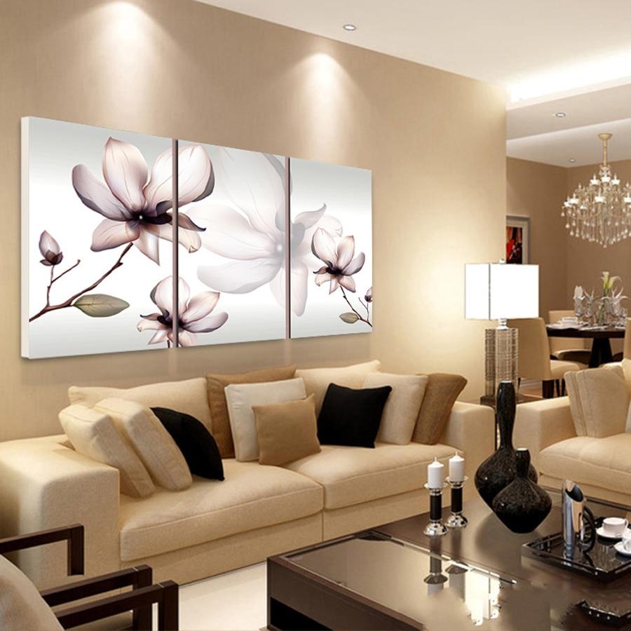 popular magnolia canvas art buy cheap magnolia canvas art lots cuadros decoracion de parede rectangle canvas art magnolia 3 piece oil painting decorative pictures print in