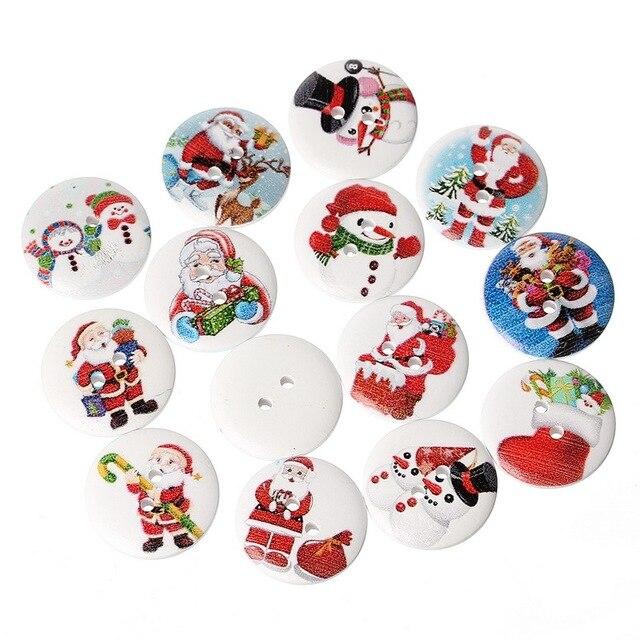 20 Unids Mezclado Padre Navidad Muñecos de Nieve Patrones de Navidad ...