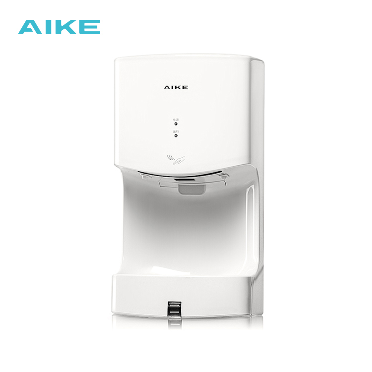 Aike Abs Plastic 110m/s Wall Mounted High Speed Bathroom Automatic Hand Dryer With Drain Tank Ak2630t Hand Dryers K Complete In Specifications