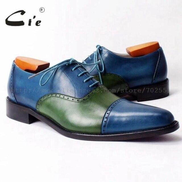 0fa47bb8a Cie captoe apontou sapato de couro dos homens feitos sob medida  personalizado handmade couro de bezerro