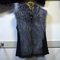 2017 New Silver Fox Fur Vest for Woman Genuine Leather Sheepkin Real Fox Fur Coat Luxury Genuine Fox Fur Women's Fur Vest Jacket