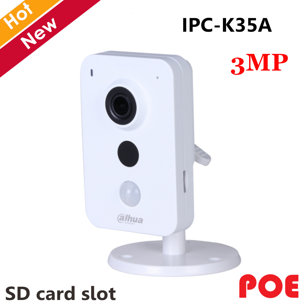 Dahua IPC K35A 3MP K Series PoE Network Camera DC12V PoE IP Camera IR Diatance 10m