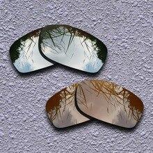 Серебряный Титан и Земля коричневый Поляризованные замена линз для Oakley Fives квадратные солнечные очки